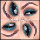 Sparkling teal eyeshadow
