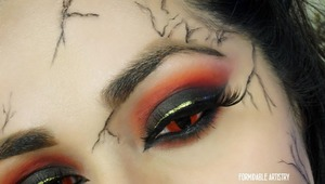 This was a look I created for a collaboration with four other ladies details in blogpost!  http://formidableartistry.blogspot.com/2013/04/collaboration-hansel-and-gretel-witch.html