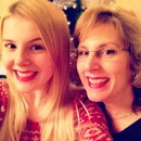 Me and my Mum trying out a natural Christmassy look