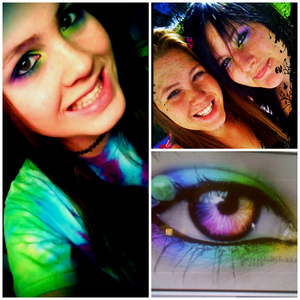 Rainbow eyes(: my favorite to do