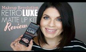 Drugstore Kylie Lip Kit Dupe?! | Makeup Revolution Retro Luxe Matte Lip Kit | @girlythingsby_e