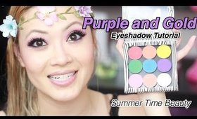 Makeup Tutorial | Gorgeous Purple and Gold Eyeshadow