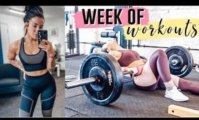 FULL WEEK OF WORKOUTS   GYM & HOME 🏋️♀️