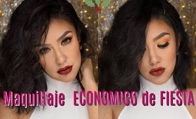 Productos ECONOMICOS maquillaje de NAVIDAD/ Holiday makeup tutorial   auroramakeup