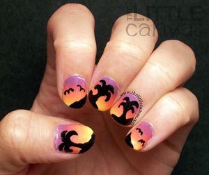 http://www.thelittlecanvas.com/2013/07/sunset-palm-tree-nails-take-2.html
