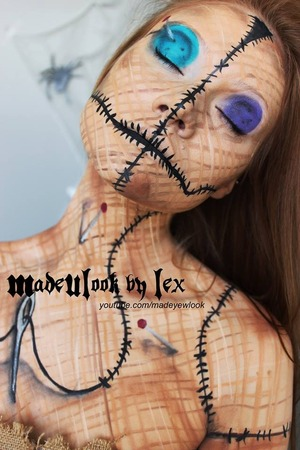 "http://www.youtube.com/watch?v=SeDNV21L19s&feature=c4-overview&list=UUiXoZHFowJUlDVMuRFAwVAw  The Voodoo Doll makeup tutorial is now available! Check it out! If you guys love this video, please give it a ""thumbs up"" and share it with your friends! Don't forget to subscribe to MadeYewLook  ALSO!! Here is the COMPLETE photo in full color, details and all! I hope you guys love it! If you do, don't forget to share this photo with your friends!"