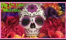 Dia De Los Muertos Wreath | Inexpensive DIY Halloween Wreath