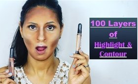 100 LAYERS OF HIGHLIGHT AND CONTOUR ( Cream and Powder ) | Manisha Moments