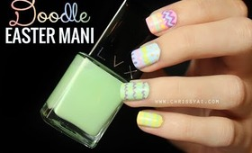 Easy Doodle Easter Mani Tutorial