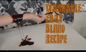 Fake Blood Recipe ☠ Detergent Based ☠ Washes Out