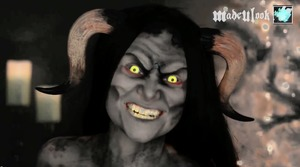 Check out the tutorial on www.youtube.com/madeyewlook - All paint, no prosthetics!
