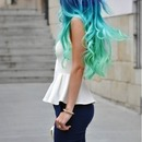 sea colored hair