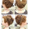 Bridal Flower Knitted-pattern Braid Updo (without using any hair extension)