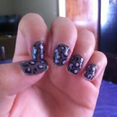 Taupe leopard nails