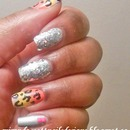 Glitter Ombre Leopard Nails