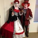 Halloween - Queen of Hearts. Tim Burton style