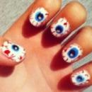 Halloween eyeball nails