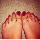 Tribal print toes