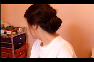 Back of my No Heat Chignon (I never took pictures of my work before so this is just a screen cap!)