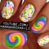 Lollipop and Sprinkles Nail Art