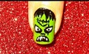 Halloween Frankensteine nailart.... :-)