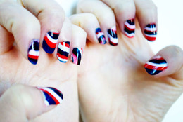 Memorial Day Marble Nail Tutorial