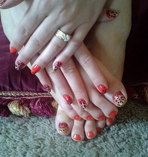 Matching Manicure & Pedicure :)