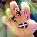 3D stilleto nail design