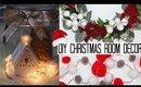 DIY CHRISTMAS ROOM DECOR IDEAS - EASY & AFFORDABLE! | VLOGMAS #3