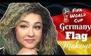 German Flag Inspired Makeup Tutorial -FIFA World Cup- (NoBlandMakeup)