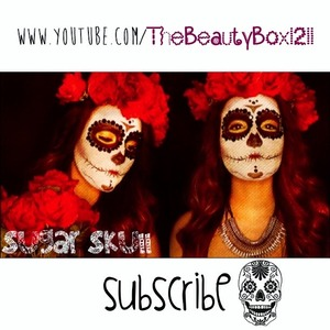 Sugar skull tutorial is now on my channel ;)
