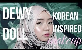 DEWY DOLL KOREAN MAKEUP | HAZIMAH SYAHINDAH