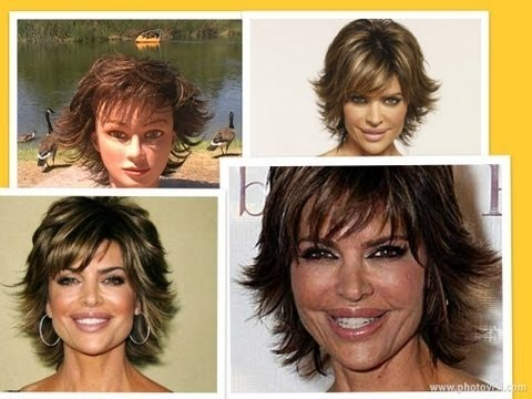 How To Cut Your Hair Like Lisa Rinna Haircut Tutorial Part 1 Of 2 Short Layered Texturized Shag Myhairstylemagazine Video Beautylish