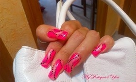 Easy, Pink, Dots Nail Art Design Tutorial - ♥ MyDesigns4You ♥