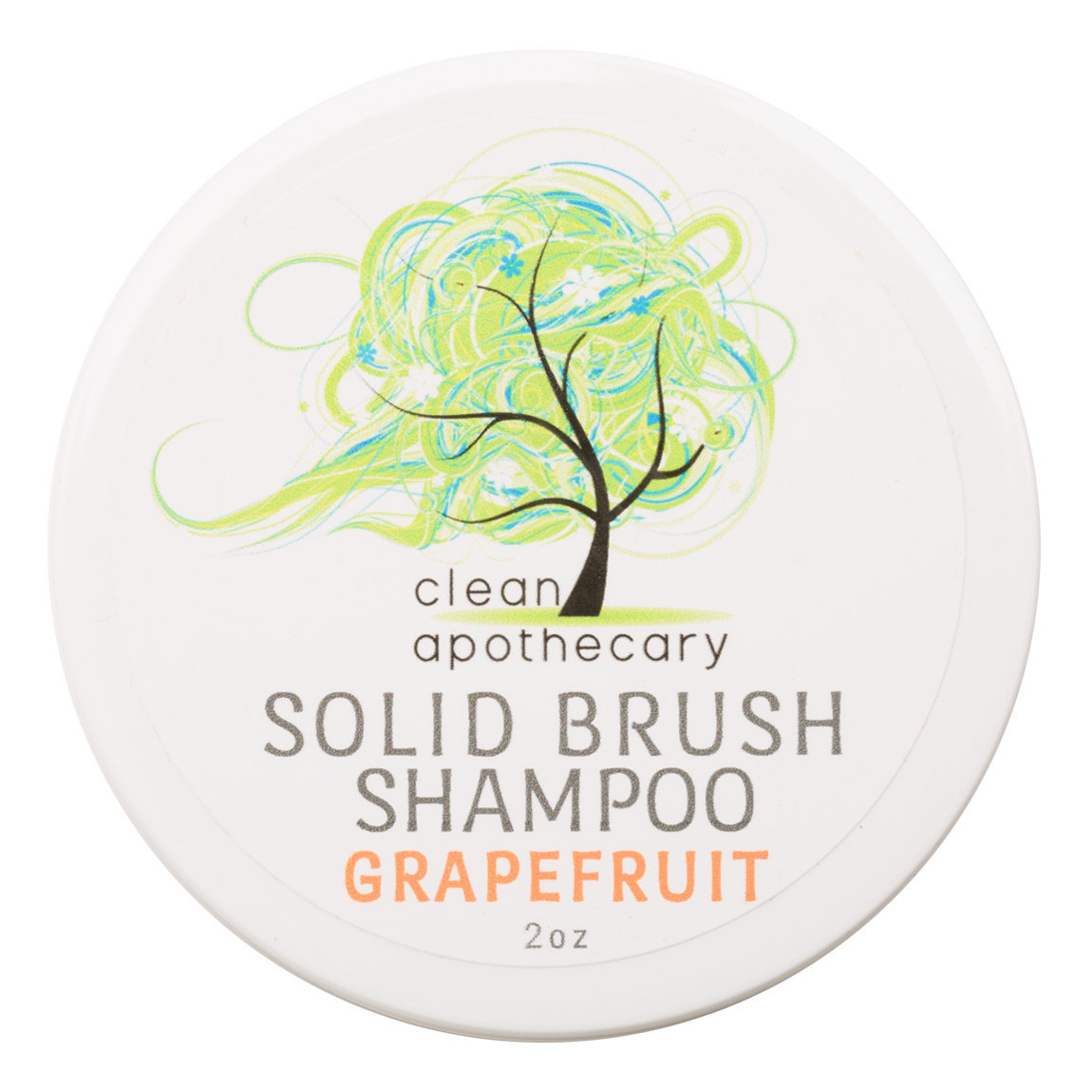 Clean Apothecary Brush Shampoo Grapefruit product swatch.