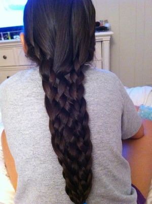 I did the 11 stranded braid to my sister :) It wasn't as hard as I thought it would be!