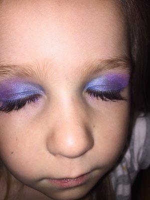 Galaxy eye makeup on my niece