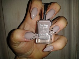 Barry M high shine Gelly nail paint in No420 ALMOND