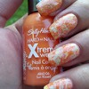 Marbled Orange Manicure