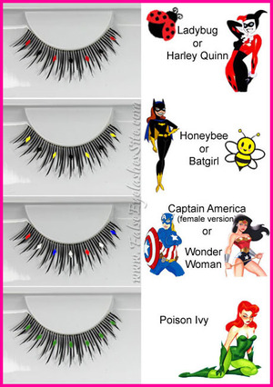 Quick and easy color combination ideas using Elegant Lashes D413 lashes. Full tutorial on http://blog.falseeyelashessite.com/diy-colorful-halloween-lashes/ Lashes from www.FalseEyelashesSite.com