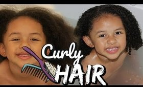 KIDS CURLY HAIR ROUTINE | EASY DETANGLING