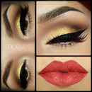 Glam look with Bold Eyeliner
