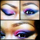 pink purple and blue