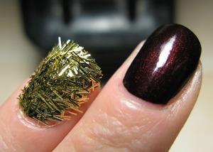 Gold fuzz by Mom's Xmas stuff! ^_^