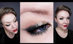 Holiday Glam Tutorial: Green, Gold, Red, Glitter