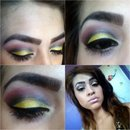 Golden Crease Look With Magenta & Black