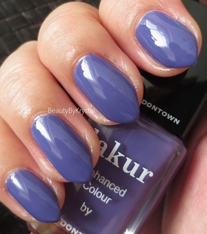 """This is a creme formula, opaque in two coats.   true royal purple, really rich and vibrant without crossing the line of """"bright"""". http://www.beautybykrystal.com/2013/10/londontown-lakur-enhanced-colour.html"""