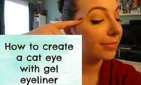 CAT EYE WITH GEL EYELINER TUTORIAL | COSMO4CONFIDENCE