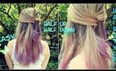 Quick and Easy Half Up Half Down Hairstyle For Medium to Long Hair| Under Two Minutes Hair