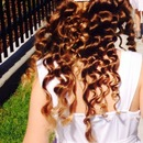 Daughter hair for first holy communion